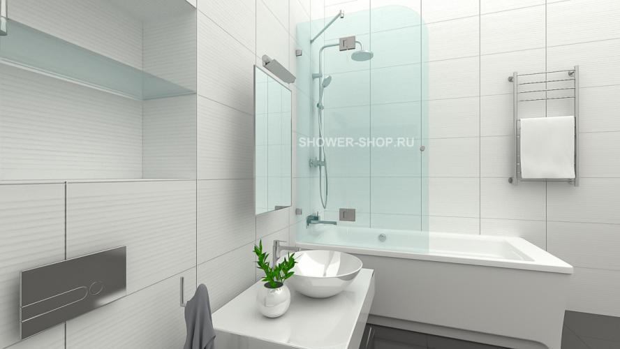 Фурнитура для стеклянного ограждения на ванну с дверью №703